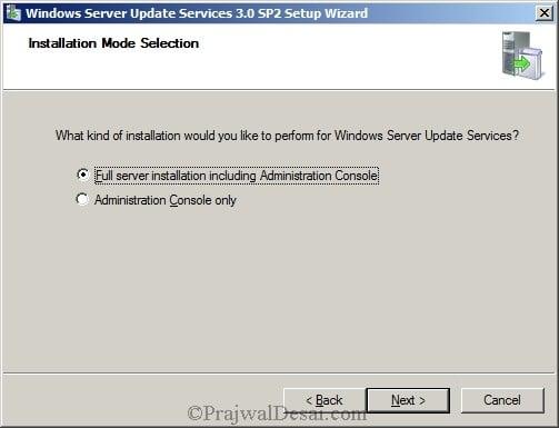 Deploying SCCM 2012 Part 5 – Installing WSUS Snap 2