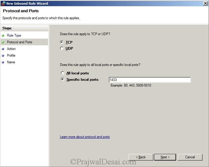 SQL Ports for SCCM - TCP port 1433