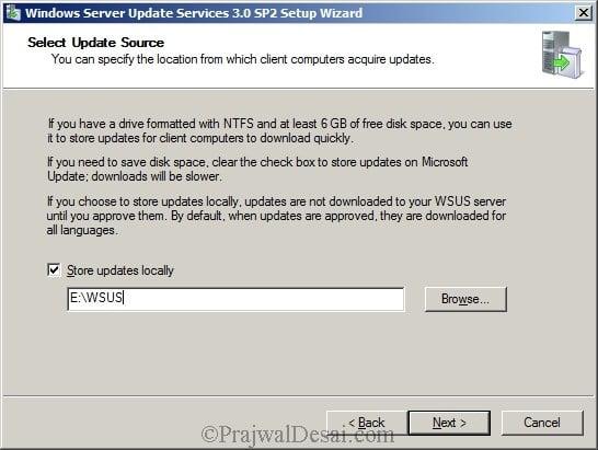 Deploying SCCM 2012 Part 5 – Installing WSUS Snap 3