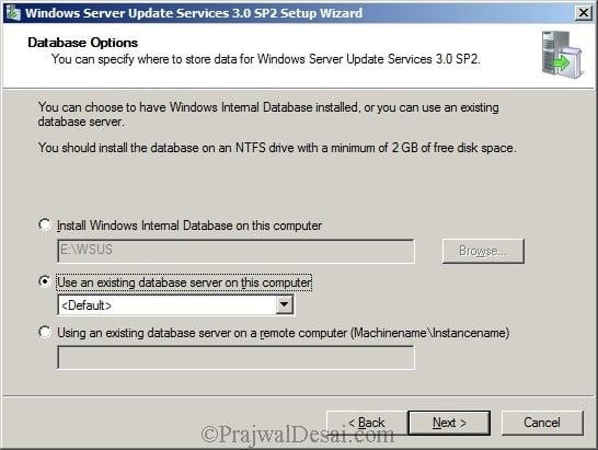 Deploying SCCM 2012 Part 5 – Installing WSUS Snap 4