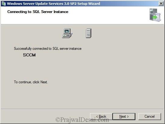 Deploying SCCM 2012 Part 5 – Installing WSUS Snap 5