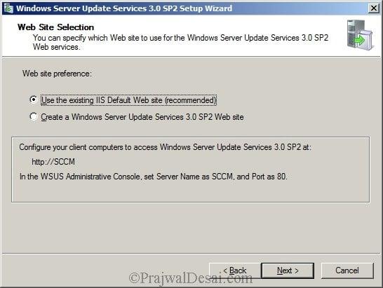 Deploying SCCM 2012 Part 5 – Installing WSUS Snap 6