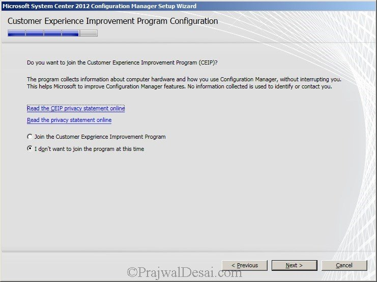 Deploying SCCM 2012 Part 6 – Installing SCCM 2012 Snap 17