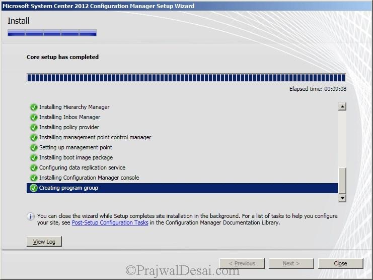 Deploying SCCM 2012 Part 6 – Installing SCCM 2012 Snap 28