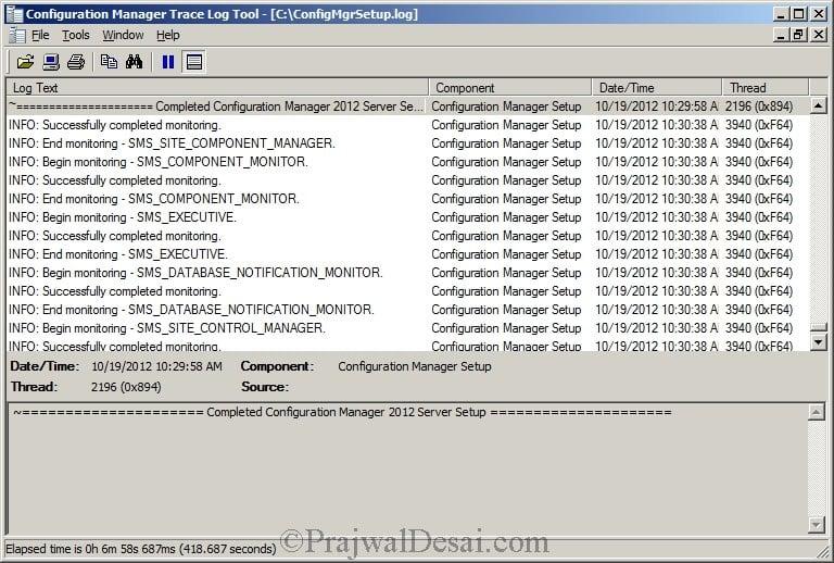 Deploying SCCM 2012 Part 6 – Installing SCCM 2012 Snap 29