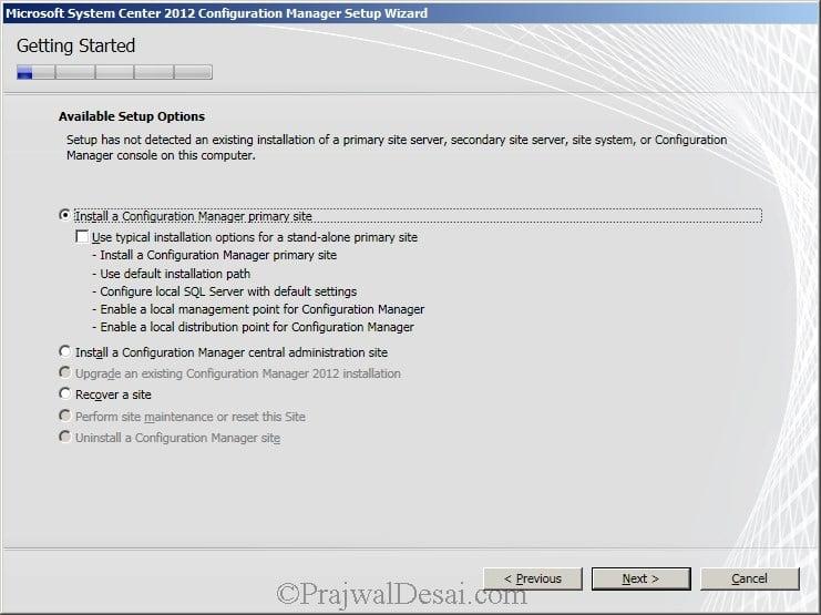 Deploying SCCM 2012 Part 6 – Installing SCCM 2012 Snap 3
