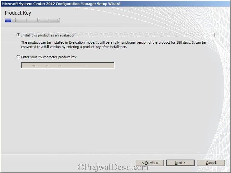 Deploying SCCM 2012 Part 6 – Installing SCCM 2012 Snap 4