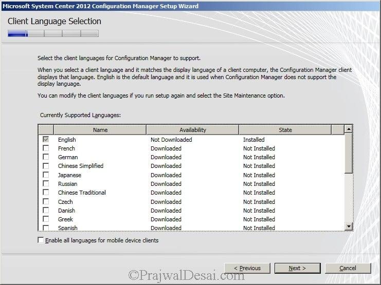 Deploying SCCM 2012 Part 6 – Installing SCCM 2012 Snap 9