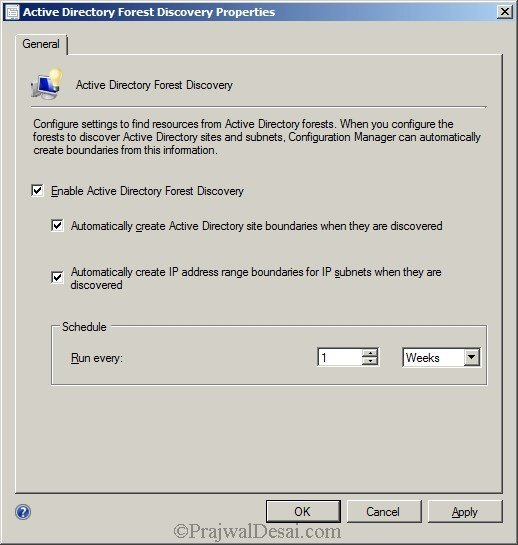 Deploying SCCM 2012 Part 7 – Configuring Discovery and Boundaries Snap 1