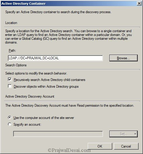 Deploying SCCM 2012 Part 7 – Configuring Discovery and Boundaries Snap 12