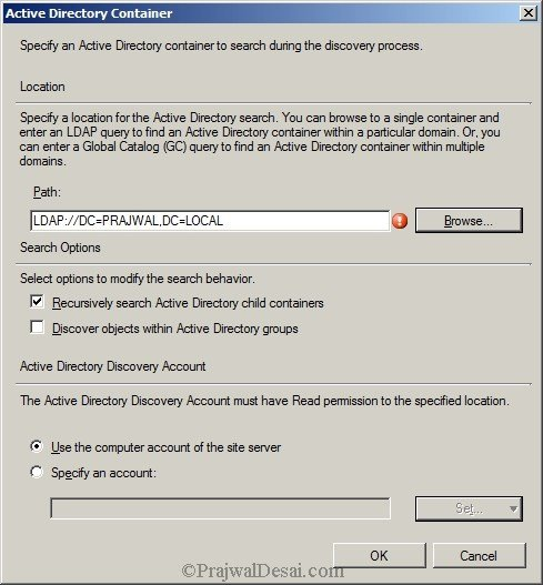 Deploying SCCM 2012 Part 7 – Configuring Discovery and Boundaries Snap 17