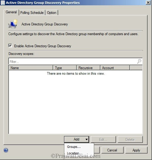 Deploying SCCM 2012 Part 7 – Configuring Discovery and Boundaries Snap 3