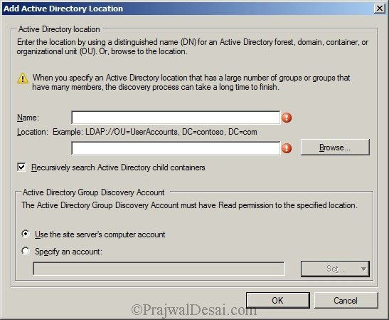 Deploying SCCM 2012 Part 7 – Configuring Discovery and Boundaries Snap 4