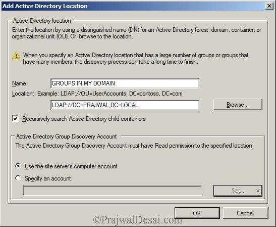 Deploying SCCM 2012 Part 7 – Configuring Discovery and Boundaries Snap 6