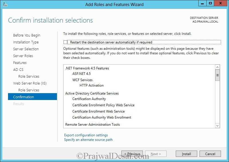 Installation of Lync Server 2013 Standard Edition Part 1 Snap 29