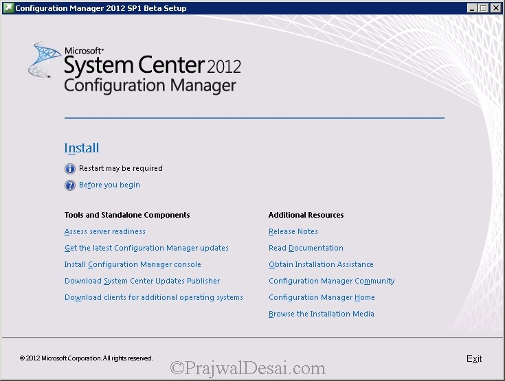 How to Upgrade SCCM 2012 RTM to SCCM 2012 SP1 Beta Snap 1