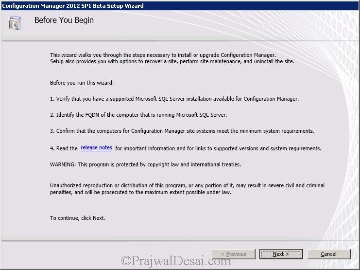 How to Upgrade SCCM 2012 RTM to SCCM 2012 SP1 Beta Snap 2