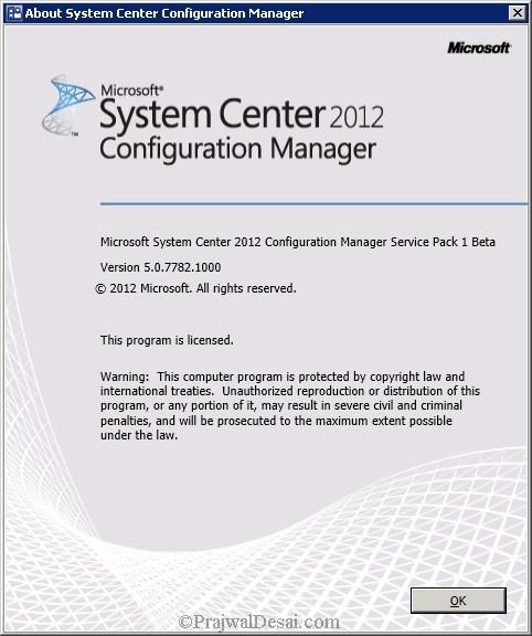 How to Upgrade SCCM 2012 RTM to SCCM 2012 SP1 Beta Snap 25
