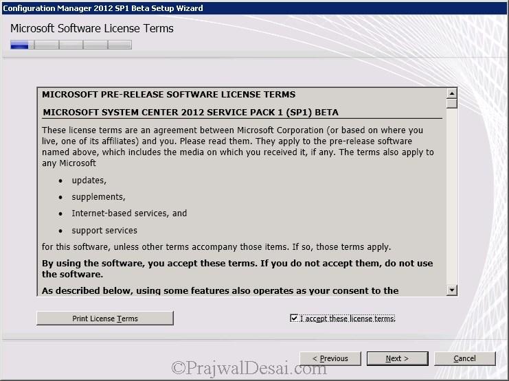 How to Upgrade SCCM 2012 RTM to SCCM 2012 SP1 Beta Snap 5