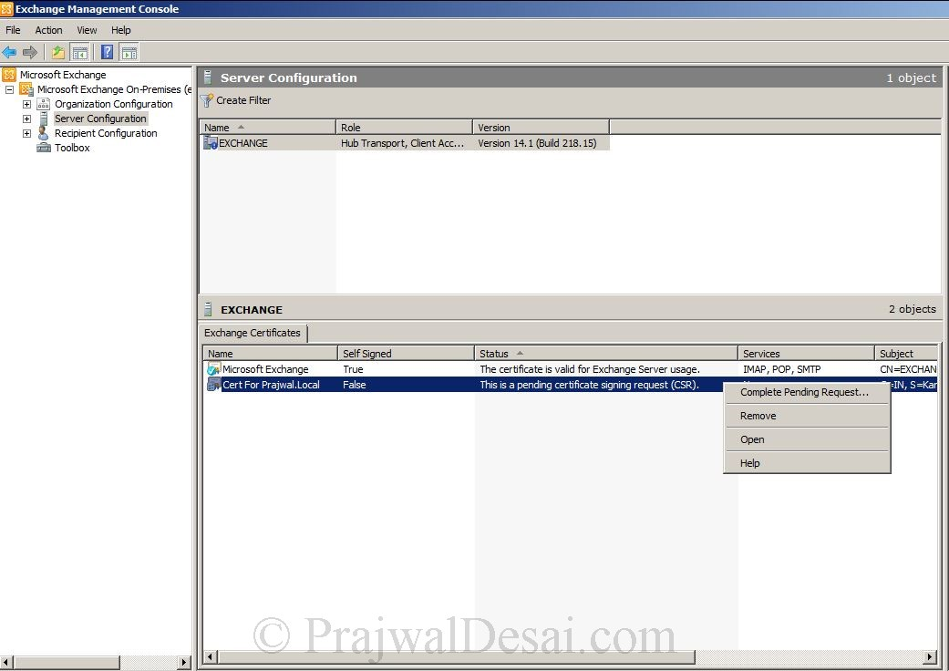 How to Issue a SAN Certificate to Exchange Server Snap 17
