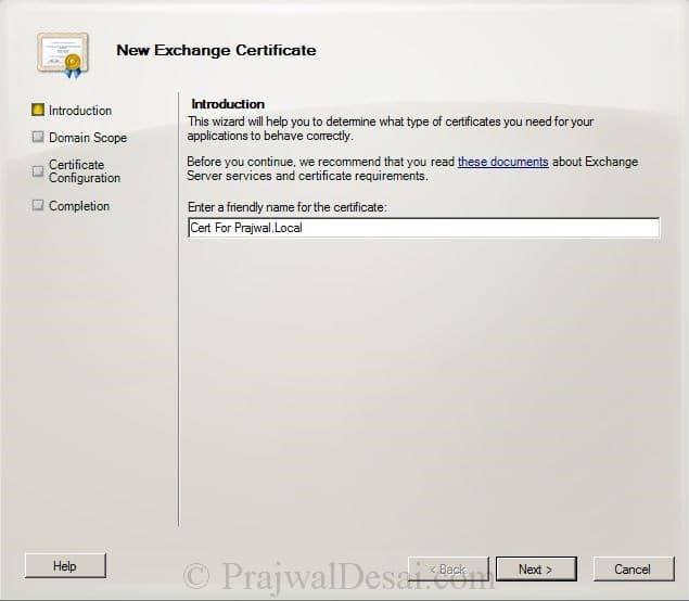 How to Issue a SAN Certificate to Exchange Server Snap 2