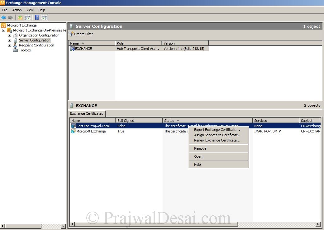 How to Issue a SAN Certificate to Exchange Server Snap 20