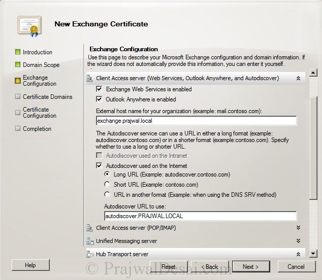 How to Issue a SAN Certificate to Exchange Server Snap 5