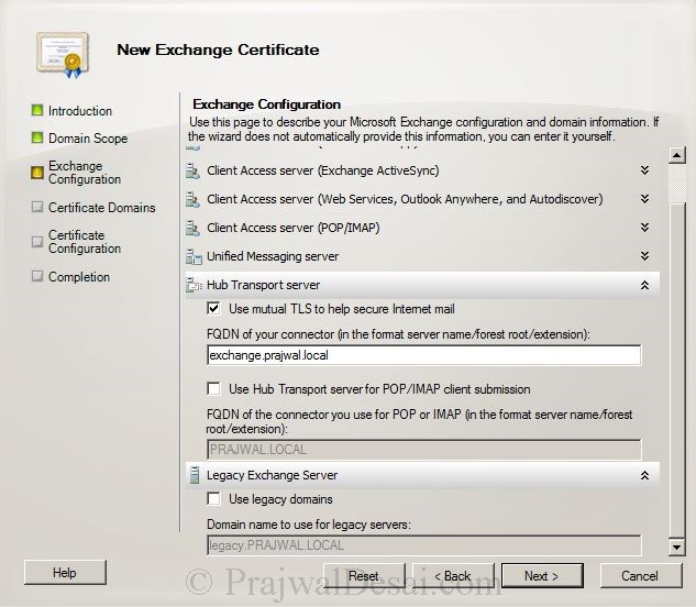 How to Issue a SAN Certificate to Exchange Server Snap 6