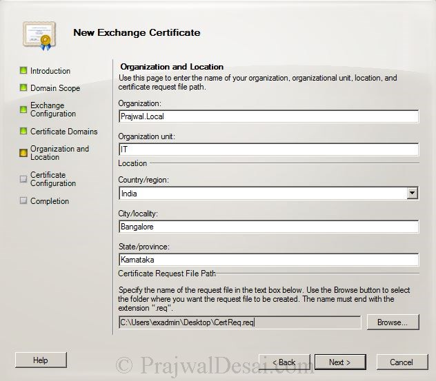 How to Issue a SAN Certificate to Exchange Server Snap 8