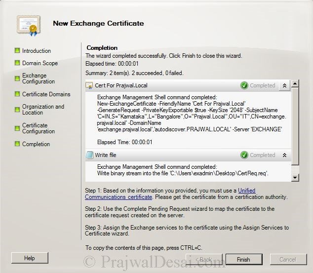 How to Issue a SAN Certificate to Exchange Server Snap 9
