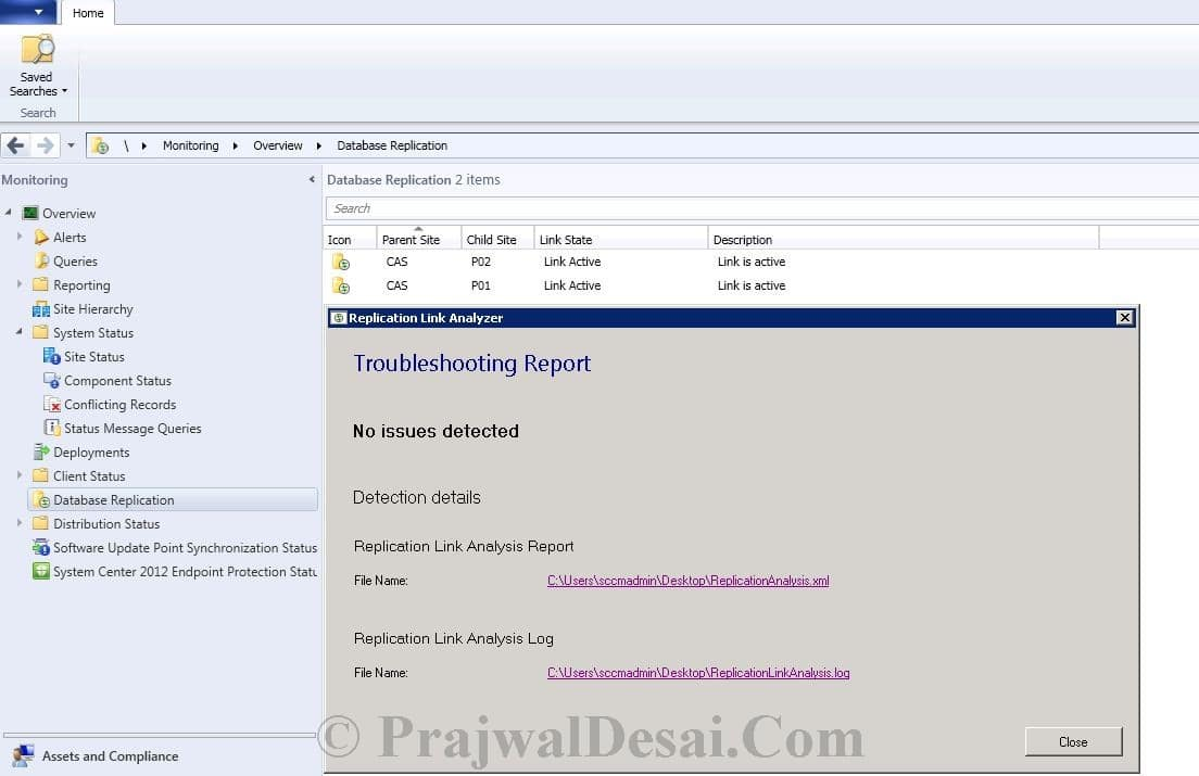 Replication Link Analyzer In Configuration Manager 2012 Snap 10