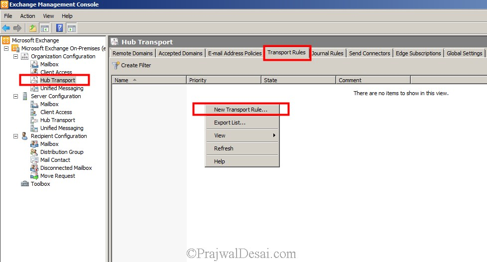 How To Configure A Disclaimer In Exchange 2010 Snap 1