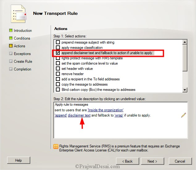 How To Configure A Disclaimer In Exchange 2010 Snap 6