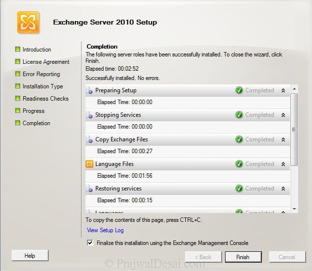 How To Install Exchange 2010 Management Tools On Windows 7 Snap 13