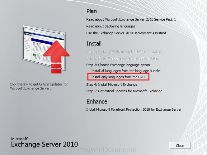 How To Install Exchange 2010 Management Tools On Windows 7 Snap 6