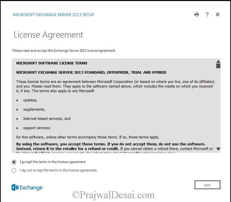 How to Install Exchange Server 2013 Snap 7