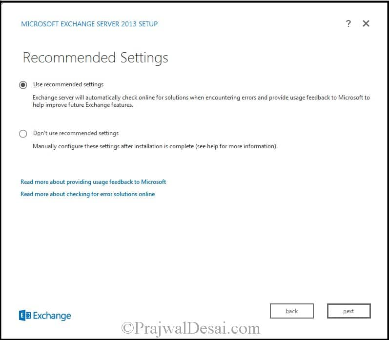 How to Install Exchange Server 2013 Snap 8