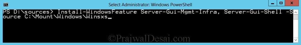 Switching Between GUI and Server Core in Windows Server 2012 Snap 5