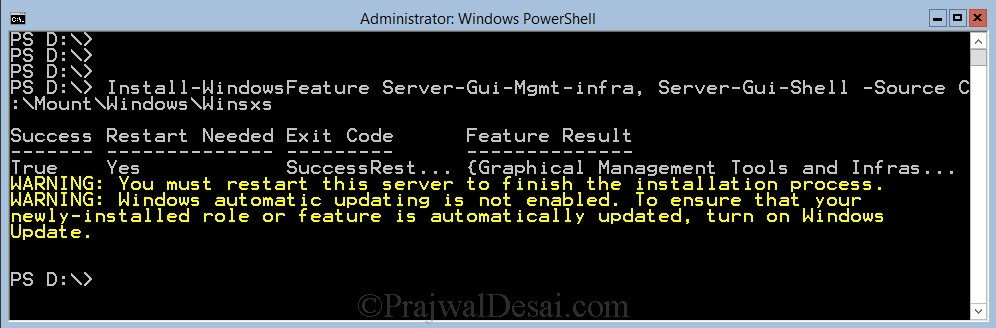 Switching Between GUI and Server Core in Windows Server 2012 Snap 7
