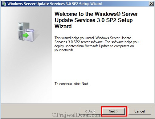 Installing WSUS Configuring Firewall Exceptions Snap 1