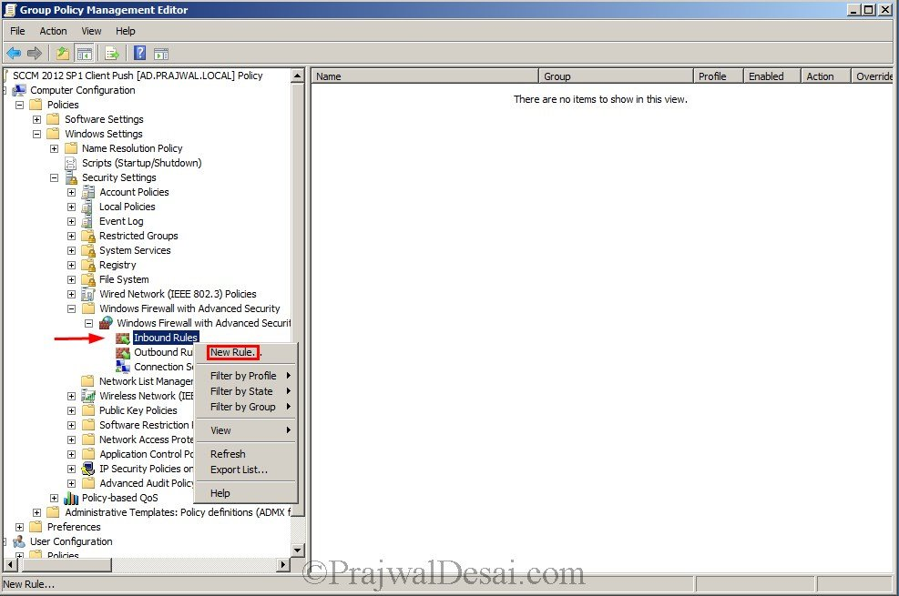 Installing WSUS Configuring Firewall Exceptions Snap 13