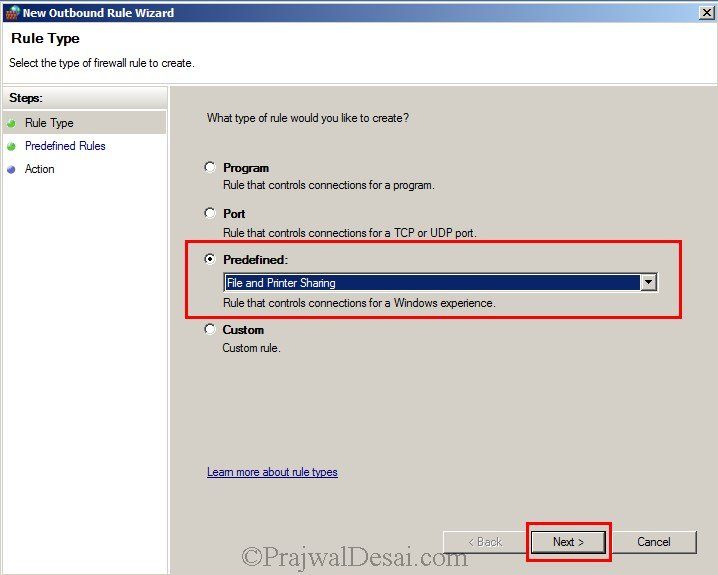 Installing WSUS Configuring Firewall Exceptions Snap 17