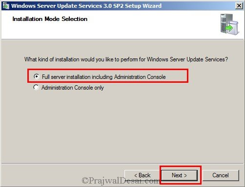 Installing WSUS Configuring Firewall Exceptions Snap 2