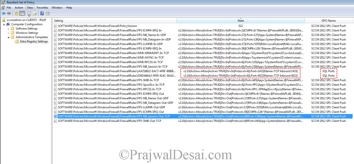 Installing WSUS Configuring Firewall Exceptions Snap 34