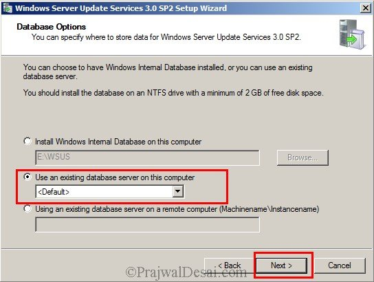 Installing WSUS Configuring Firewall Exceptions Snap 5
