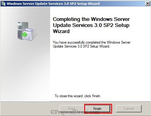 Installing WSUS Configuring Firewall Exceptions Snap 9