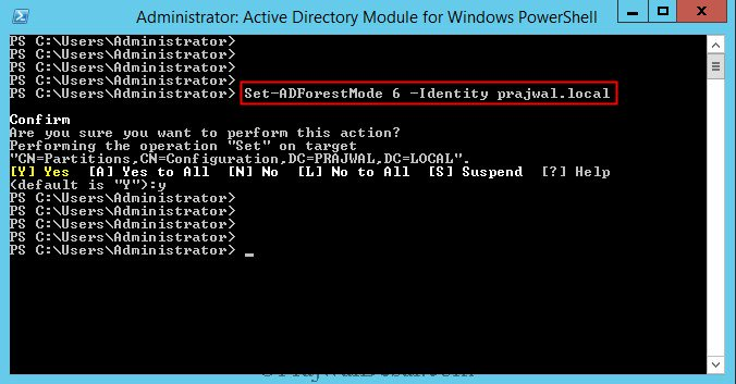 Use PowerShell to Raise Forest Functional Level