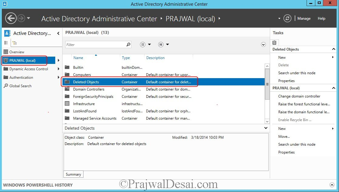 Active Directory Deleted Objects