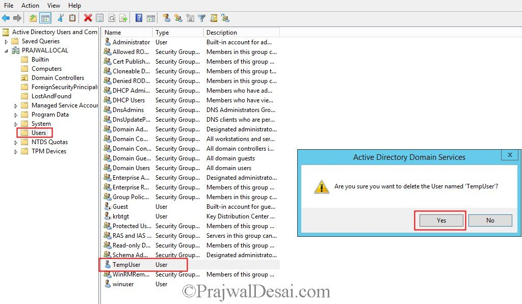 Delete Object From Active Directory