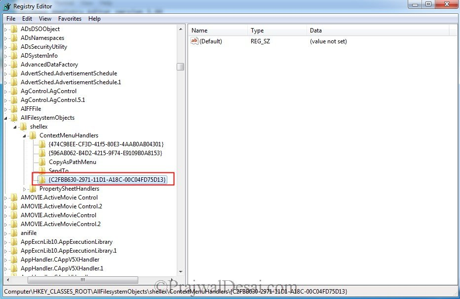 Add Copy To or Move To On Windows 7 Right Click Menu